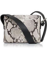 Amanda Wakeley - Python Leather Mini Nicholson Crossbody Bag - Lyst