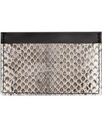 Amanda Wakeley - Retail Is Therapy Natural Leather Card Holder - Lyst