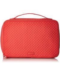 Vera Bradley Microfiber Large Blush & Brush Makeup Organizer Case - Red