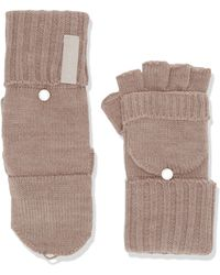 Calvin Klein Tonal Label Flip Top Gloves Cold Weather - Multicolor