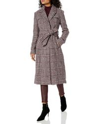 Cole Haan Long Wool Trench Coat - Multicolor