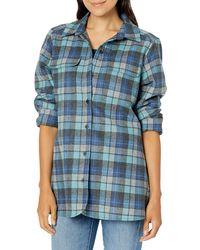 Pendleton Long Sleeve Board Wool Shirt - Blue