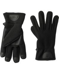 Timberland Ribbed-knit Wool-blend Glove With Touchscreen Technology - Black