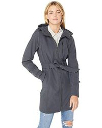 BCBGeneration - Soft Shell Center Front Zip Coat With Hood, - Lyst