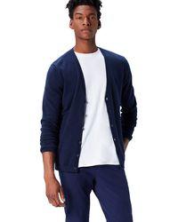 FIND Cotton Button Down Cardigan Sweater - Blue