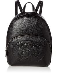 Lacoste Leather Croc Backpack - Black