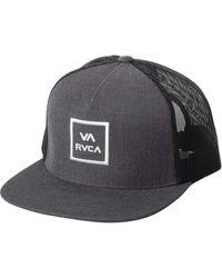 RVCA Adjustable Snapback Hat - Gray