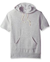 Alternative Apparel Short Sleeve Hoodie - Gray