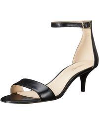 Nine West Leisa Leather Heeled Dress Sandal - Black