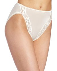 Wacoal Bodysuede Lace Hi-cut Panty Brief Panty - White