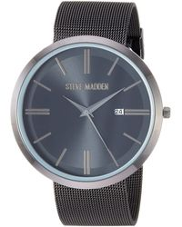 Steve Madden Fashion Watch Smw255bk - Black