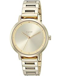 DKNY - The Modernist Analog-quartz Watch With Stainless-steel Strap, Gold, 14 (model: Ny2636) - Lyst