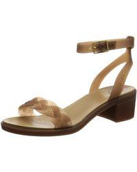 Crocs™ Isabella Block Heel Sandalen mit Absatz - Mehrfarbig