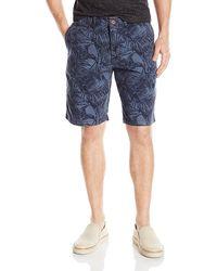 MSGM Mens Multi-Color Flat Front Shorts