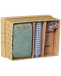Original Penguin 3-piece Solid Tie, Pocket Square & Lapel Pin Box, Green, One Size