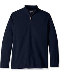 Izod - Big And Tall Long Sleeve 1/4 Zip Sweater Fleece Soft Pullover - Lyst