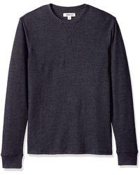Goodthreads : camiseta térmica de manga larga con cuello redondo para - Azul