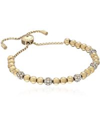 Michael Kors Blush Rush Gold-tone Bead Bangle Bracelet - Metallic