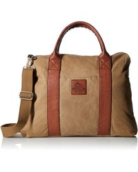 Buxton Expedition Ii Huntington Canvas Laptop Briefcase - Brown