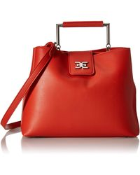Sam Edelman Lois Top Handle Handbag - Red