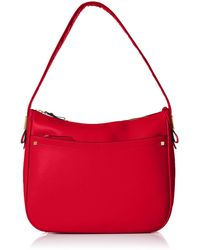 Cole Haan Tali Leather Hobo - Red