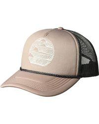 e95898a5999 O neill Sportswear - Shop Talk Screen Print Foam Trucker Hat - Lyst