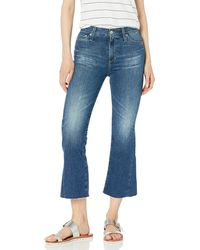 AG Jeans Quinne Crop Flare - Blue