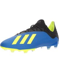 adidas X 18.2 Firm Ground Soccer Shoe - Blue