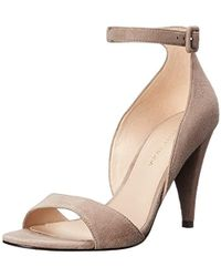70a6e718e846 Lyst - Chloé  foster  Suede Wedge Gladiator Sandal in Natural