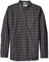 124ca601d0e2 Tommy Hilfiger - Tommy Jeans Long Sleeve Herringbone Gingham Button Down  Shirt - Lyst