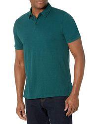 Velvet By Graham & Spencer Velvet Randall Short Sleeve Polo Shirt - Green