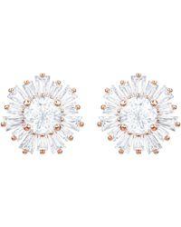 Swarovski Sunshine Pierced Earrings - White