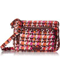 Vera Bradley - With Protection S Signature Cotton Rfid Little Hipster Crossbody Purse Houndstooth Tweed One Si - Lyst