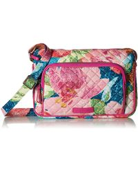Vera Bradley - Womens With Protection S Signature Cotton Rfid Little Hipster Crossbody Purse Superbloom One Size - Lyst