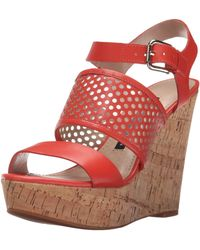 French Connection Devi Wedge Sandal - Red