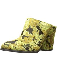 Kenneth Cole Reaction Tap Dance Slip On Bootie Shootie With Western Heel-satin Ankle - Yellow