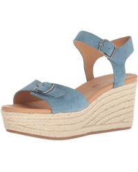 Lucky Brand Naveah Espadrille Wedge Sandal - Blue
