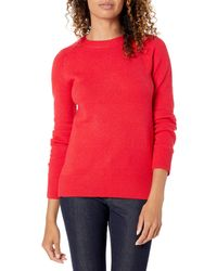 Amazon Essentials Long Sleeve Crew Neck Classic Fit Sweater - Red