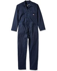 Dickies Big And Tall Long Sleeve Flex Coverall - Blue