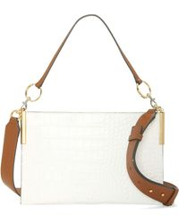 Vince Camuto Dev Leather Crossbody Bag - White