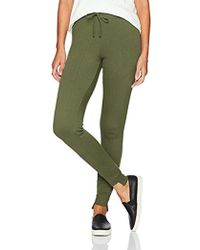 Pam & Gela Sweat Pant W/uneven Hem - Green