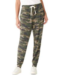 Lucky Brand Printed Brushed Hacci Jogger - Green