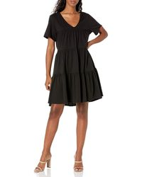 Rebecca Minkoff Lanzy Short Sleeve Knit Dress - Black