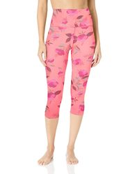 Core 10 All Day Comfort High Waist 7/8 Crop Yoga Legging - Pink