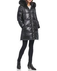 DKNY Plus Size Walker Puffer - Black