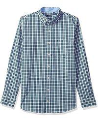 Izod - Premium Performance Natural Stretch Tattersal Long Sleeve Shirt (regular And Slim Fit) - Lyst
