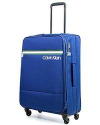 "Calvin Klein - 25"" Softside Spinner Luggage With Tsa Lock, Dark Navy - Lyst"