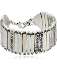 Lucky Brand Silver Link Bracelet - Metallic