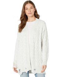 Splendid Sleeve Long Cardigan Sweater - Gray