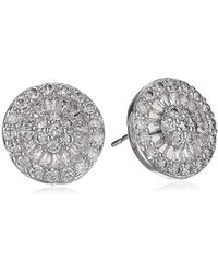 """CZ by Kenneth Jay Lane - """"classic"""" Multi-cubic Zirconia Button Post Stud Earrings, 6 Cttw - Lyst"""